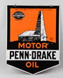 Penn Drake Motor Oil Porcelain Curb Sign, Estimated at $8,000-12,000