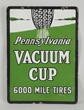 "Pennsylvania Vacuum Cup ""6000 Mile Tires"" Porcelain Sign, Estimated at $3,000-5,000"