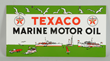 Texaco Marine Motor Oil Porcelain Sign, Estimated at $10,000-20,000