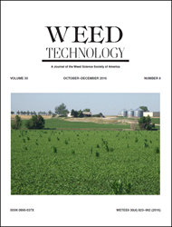 Weed Technology Volume 30, Issue 4 cover