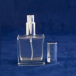 1.7 oz (50ml) Square Flint Glass Bottle with Spray