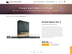 Pro3rd Basics Volume 2 - FCPX Plugin - Pixel Film Studios