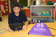 San Marcos TX CISD student reading with Learning Ally as he competes to win in the Great Reading Games