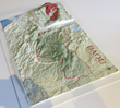 Daou Vineyards custom raised-relief map