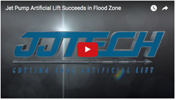 JJ Tech video about jet pump artificial lift installed in a flood zone.