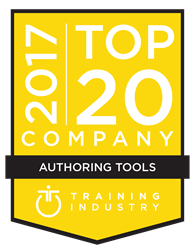 2017 Top Authoring Tools Company - Training Industry