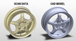 scan-to-cad example: wheel