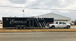 Emerald Luxury Coaches Service Trailer | Prevost Motorcoach Service Trailer