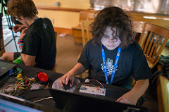 Student uses SparkFun materials to learn real-world, STEM skills.