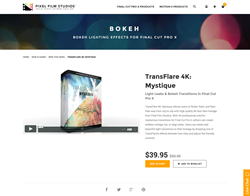 FCPX - TransFlare 4K Mystique - Pixel Film Studios Plugin