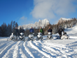Snowmobiling is a favorite winter activity at Brooks Lake Lodge. Located near Jackson Hole and Yellowstone, the lodge offers high-tech machines and two million acres of snowy terrain.