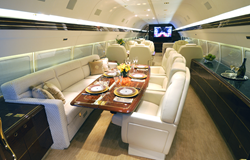 Main Cabin onboard Trump's Boeing 757