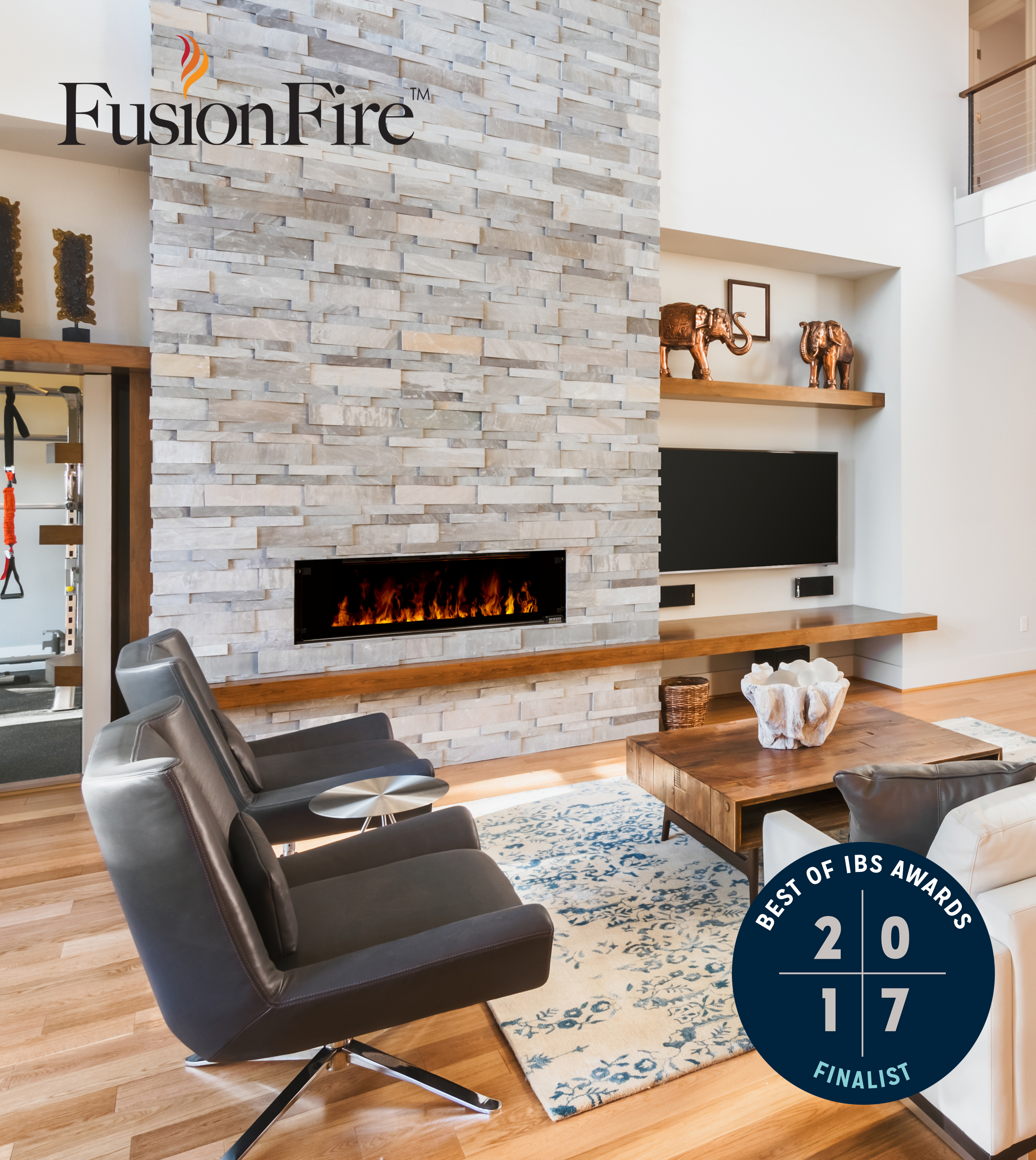 Introducing The New Modern Home: Introducing The FusionFire™ Steam Fireplace; Modern Flames