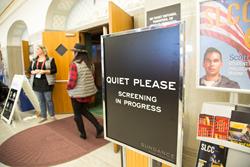 Entrance to Sundance Film Festival venue at SLCC's Grand Theatre.