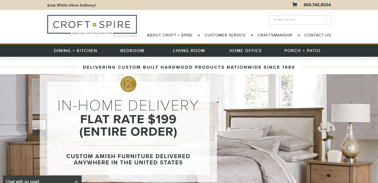 New ECommerce Furniture Store Makes Buying Customizable, Amish Made  Furniture Hassle Free