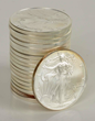 Roll of 20 American Silver Dollar Eagles, Estimated at $350-450.
