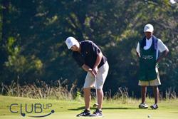 ClubUp caddie with a golfer