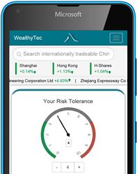 WealthyTec's China Stock Robo-Advisor web app