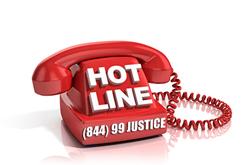 Justice Hotline (844) 99-JUSTICE