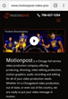 Proceed Innovative Redesigned the Website for Motionpost with a Responsive Design to Improve Search Traffic and Mobile User Friendliness