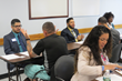 Wells Fargo employees conducted a mock job fair, interviewing clients, reviewing resumes and offering feedback to help them prepare to re-enter the job market.