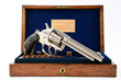 Oak Cased Colt Model 1878 Nickel Fat Grip Double Action Revolver, Estimated at $6,000-8,000.