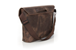 Maverick Leather Laptop Messenger—backside angled view