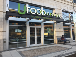 UFood Grill, a healthy fast-casual restaurant chain, opens its doors today in the Baltimore area at Metro Centre at Owings Mills.