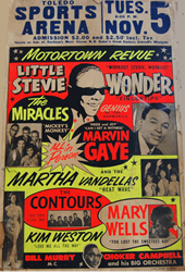 Original 1963-1967 Motortown Revue Vintage concert posters