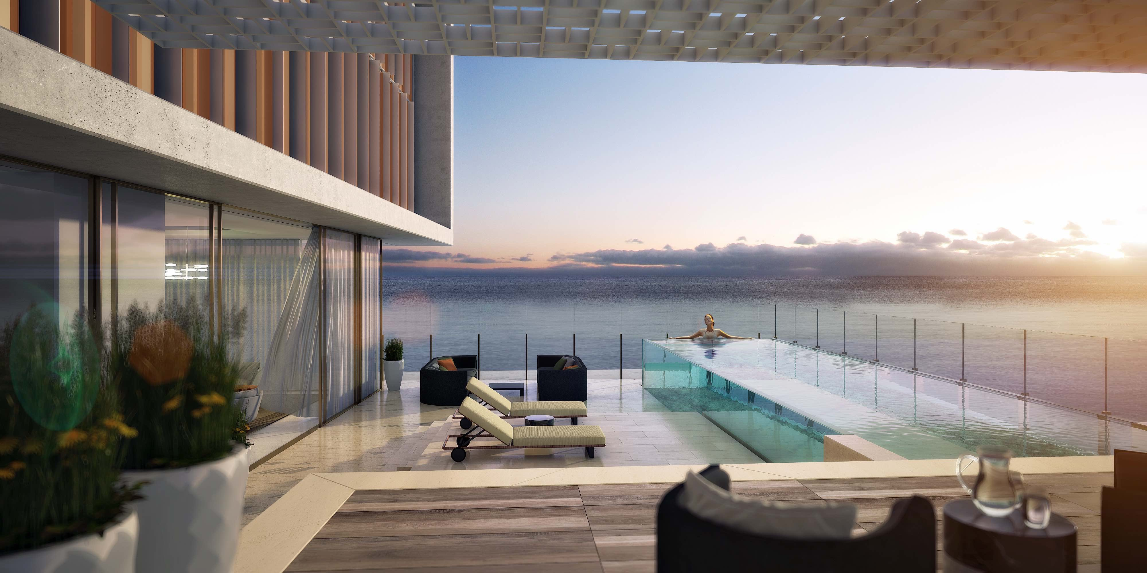Sky courts feature suites with magnificent landscaping to stunning acrylic pools royal atlantis sky courts feature acrylic pools 46 storeys up