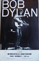 Original 1965 Bob Dylan Minneapolis Auditorium boxing style concert posters