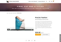 FCPX - ProList Fashion - Pixel Film Studios Plugin