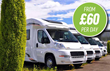 Motorhome hire from £60 per day