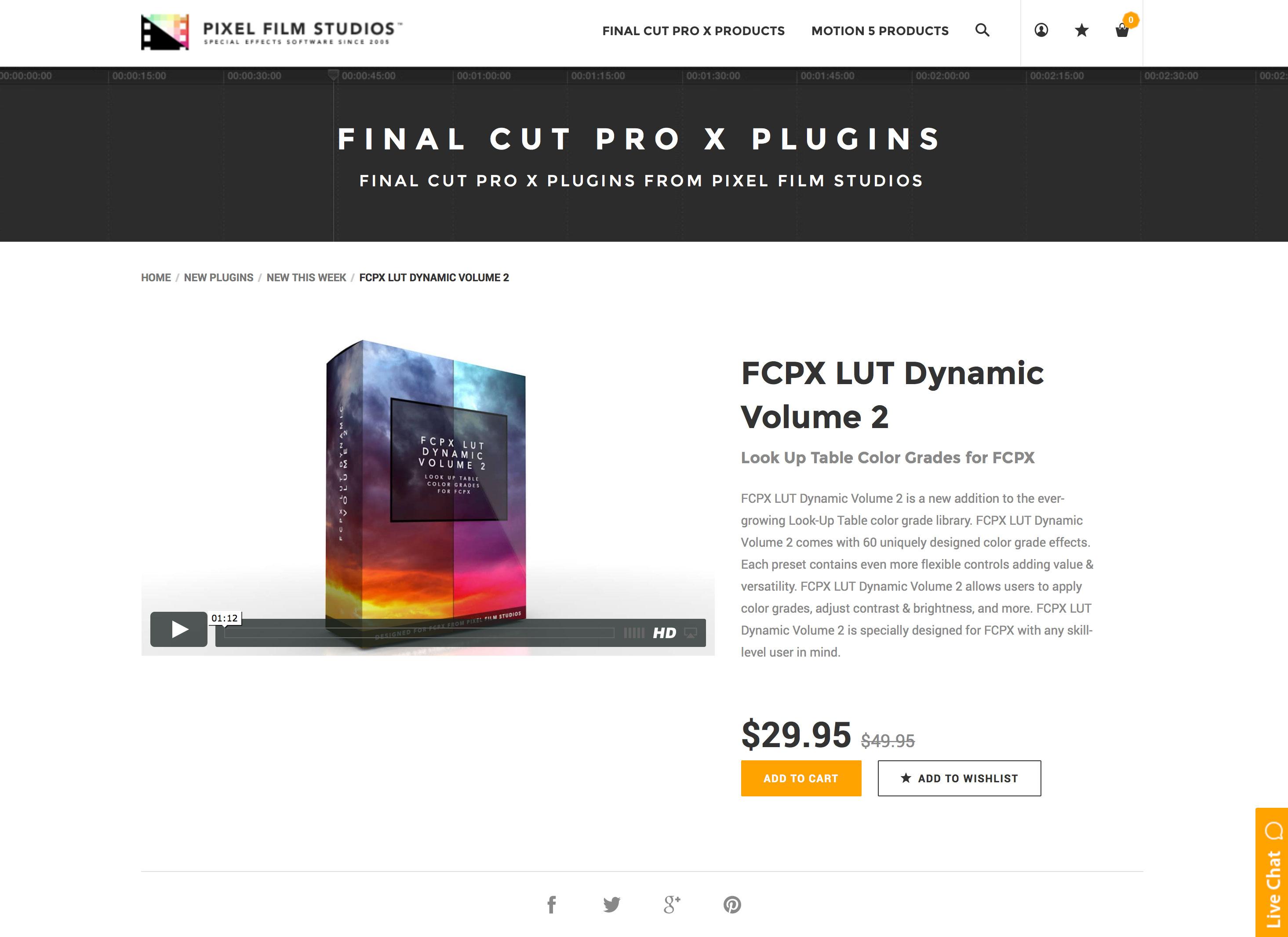 Pixel Film Studios Production Team Released FCPX LUT Dynamic