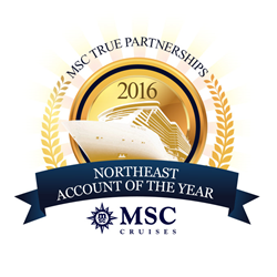 MSC Cruises' Northeast Account of the Year - The Cruise Web Inc.