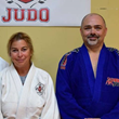 Left to Right Sensei Mary Krug Lozner and Sensei Ian Vosper, Principal of Rock Hill Judo Academy, Rock Hill, SC
