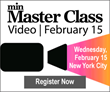 min Unveils Speaker Roster for Video Master Class on February 15 in New York City