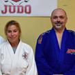 Left to Right Sensei Mary Krug Lozner and Sensei Ian Vosper, Principal of Rock Hill Judo Academy