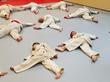 Students (Judoka) Warming Up at the Dojo (Rock Hill Judo Academy)