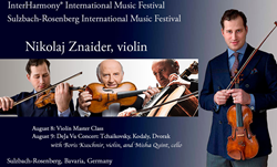 Virtuoso Violinist Nikolaj Znaider Joins InterHarmony for Concert and Master Class
