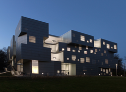 University of Iowa Visual Arts Center, featuring curved channel glass walls by Bendheim.