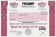 Scripophily.com will offer Trump Entertainment Resorts Stock Certificates at 16th Annual International Stock and Bond Show on January 27-28, 2017 in Herndon, Virginia