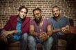 The Mayhem Poets: Scott Raven, left ; Kyle Rapps, center; Mason Granger, right
