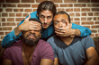 The Mayhem Poets: Kyle Rapps, left ; Scott Raven, center; Mason Granger, right