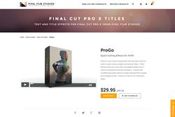FCPX - ProGo - Pixel Film Studios Plugin