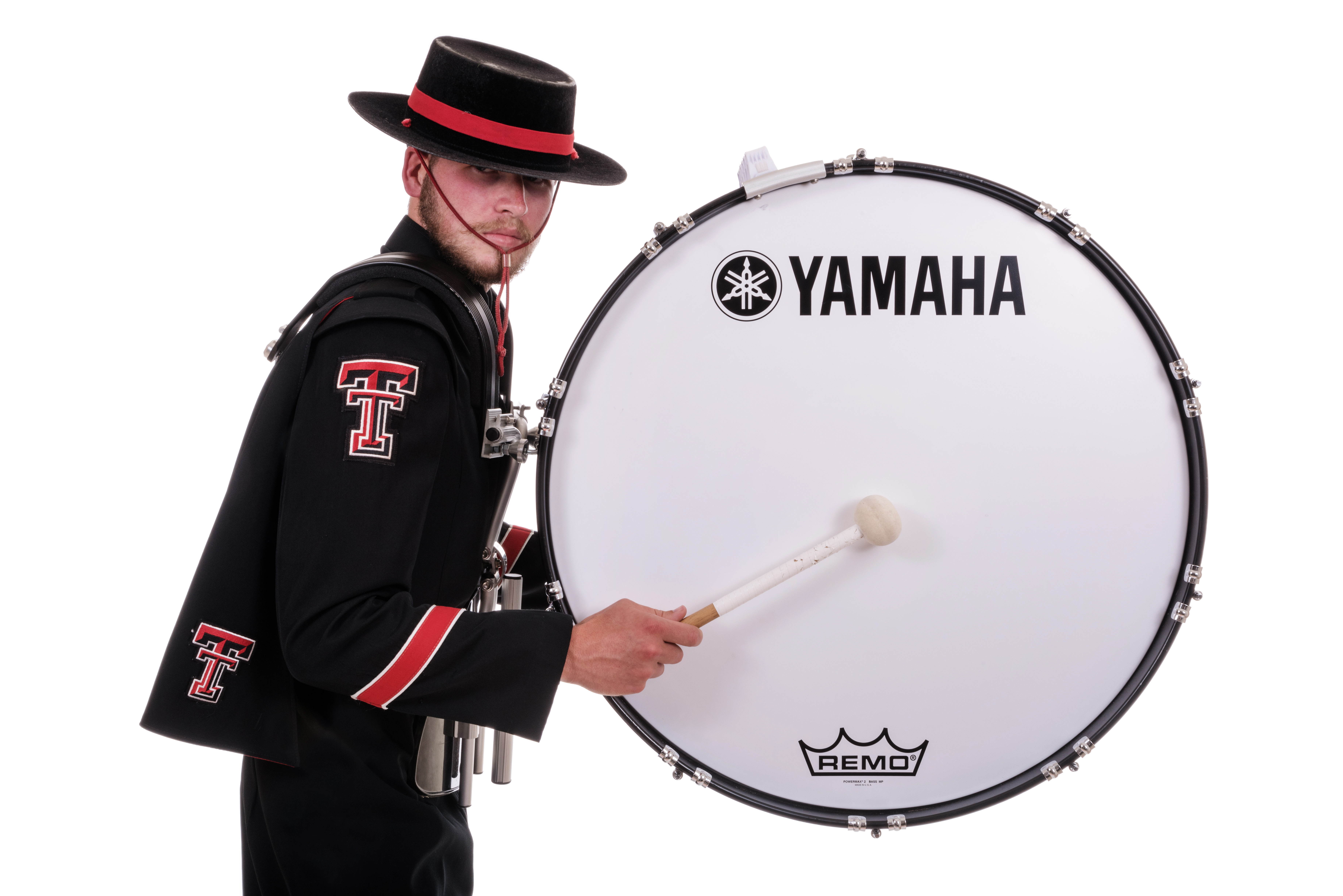 texas tech university s goin band from raiderland marches with yamaha marching percussion. Black Bedroom Furniture Sets. Home Design Ideas