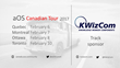 KWizCom Confirmed as a Sponsor of aOS Canadian Tour in Toronto