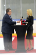Denyse Bales-Chubb, CEO and President of Florida Hospital Wesley Chapel and Jay Feaster, Executive Director of Community Hockey Development for the Tampa Bay Lightning