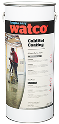 Two part polyaspartic paint for cold areas both inside and out.