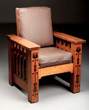 Rare Shop of the Crafters Inlaid Morris Chair, Estimated at $1,500-2,000.